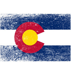 colorado state flag grunge vector image vector image