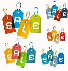 Colorful Sale Labels Set Isolated on White vector image vector image