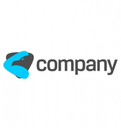 eagle logo for strong company vector image vector image