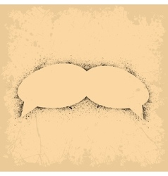 Grunge speech blobs vector image