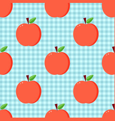 Red apples seamless pattern vector
