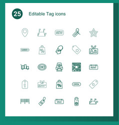 25 tag icons vector