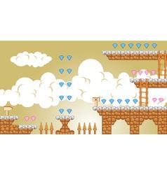 2D Tileset Platform Game 4 vector image