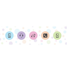 5 hotline icons vector