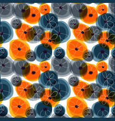 abstract flowers seamless pattern spots vivid vector image