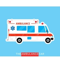 Ambulance bus isolated vector