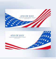 American independence day 4th of july banners vector
