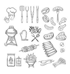 BBQ Feast Party Set vector