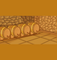 beer cellar horizontal banner cartoon style vector image