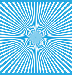 Blue-white color burst background of light rays vector