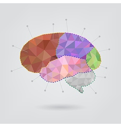 Brain concept creative triangle style v1 vector image