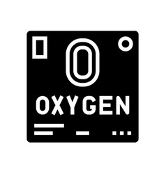 Chemical element oxygen 02 glyph icon vector