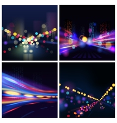 City Blur Background vector image