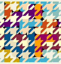 Classic hounds-tooth pattern in a patchwork vector