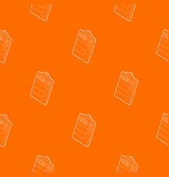 Clipboard with packing list pattern orange vector