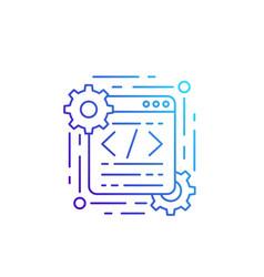 Coding and web design line icon vector