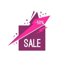 Colorful advertising sale banner 50 percent off vector