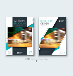 corporate business annual report cover brochure vector image