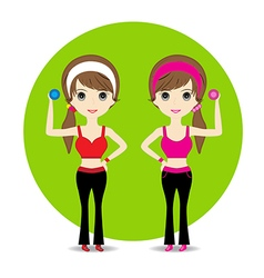 Cute Woman exercising vector image