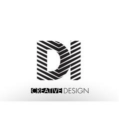 Di d i lines letter design with creative elegant vector