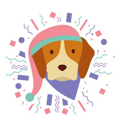 Dog party celebration vector