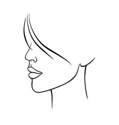 Drawing a beautiful woman 1 vector