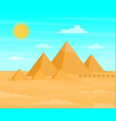 egyptian pyramids travel and tourism concept on a vector image