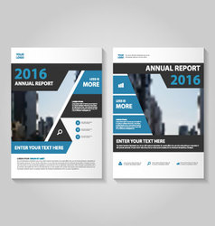 Elegance black blue annual report Leaflet Brochure vector