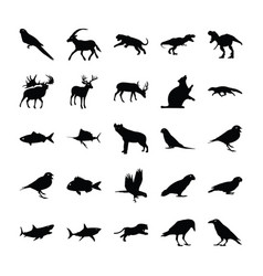 Filled icons animals vector