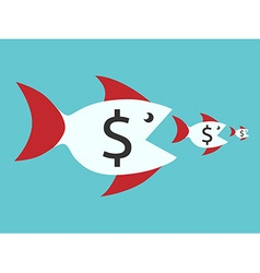 Fishes with dollar signs vector image