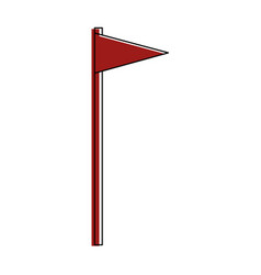 flag pennant isolated vector image