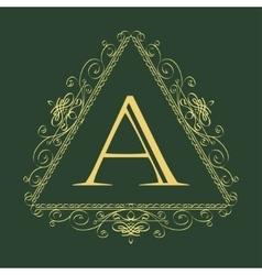 Floral ornament template logo vector