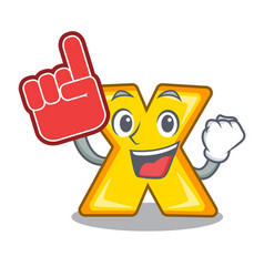 Foam finger multiply sign icon isolated on mascot vector