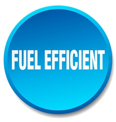 Fuel efficient blue round flat isolated push vector