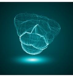 Futuristic - conceptual virus vector image