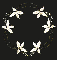 golden painted floral wreaths and laurels vintage vector image