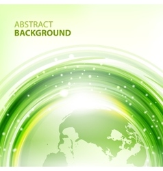 Green abstract background with Earth vector