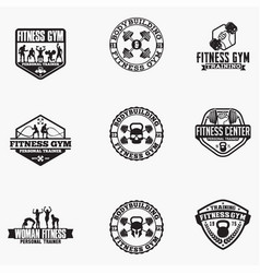gym logo badge vector image