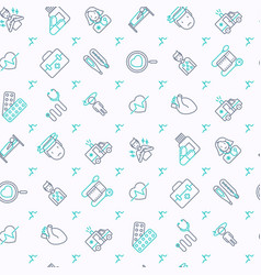 Heart attack seamless pattern vector