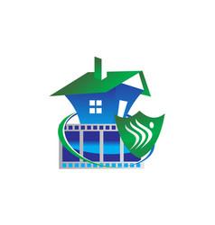 home surveillance vector image
