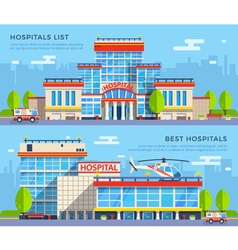 Hospital Flat Banners vector image