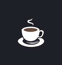 Hot coffe computer symbol vector image