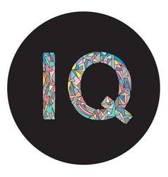 Iq intelligence quotient abbreviation design vector