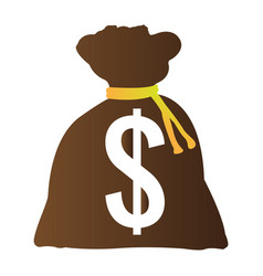 Isolated bag with money vector