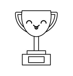 kawaii trophy cartoon vector image