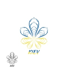 Kiev Ukraine logo design template elements vector