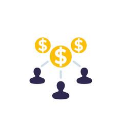 Labor employee cost icon vector