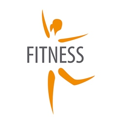 Logo for dancing girl fitness club vector