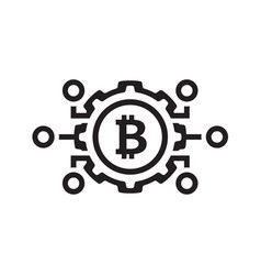 mechanics of bitcoin icon vector image