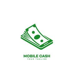 mobile cash logo vector image